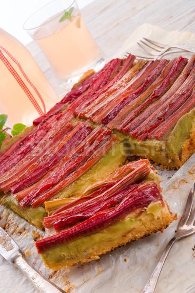rhubarb cake Stock photo © Dar1930
