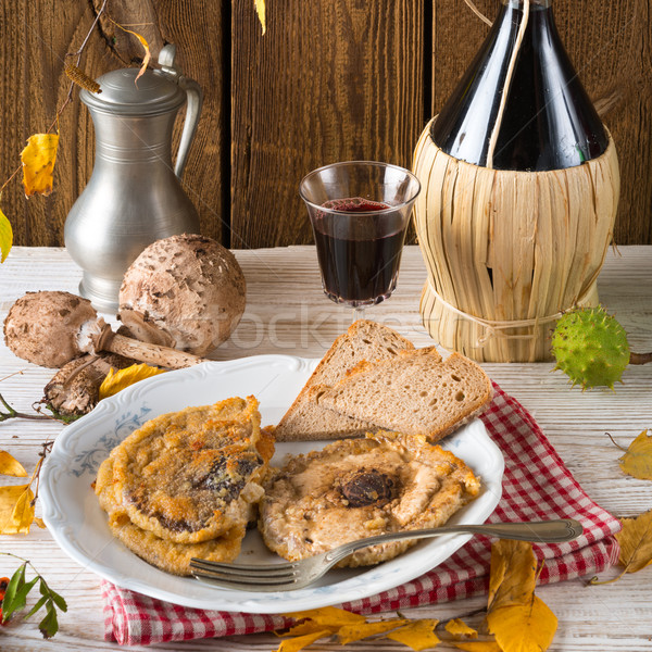 roasted parasol mushroom Stock photo © Dar1930