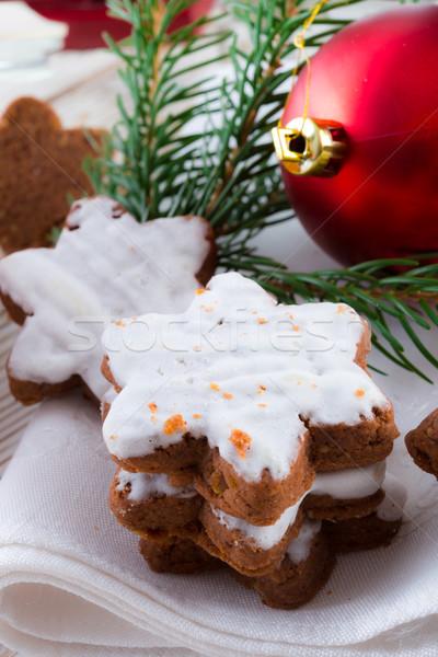 корицей звезды фон звездой приготовления Рождества Сток-фото © Dar1930