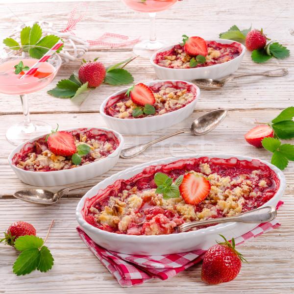 çilek meyve kek yaz renk tatlı Stok fotoğraf © Dar1930