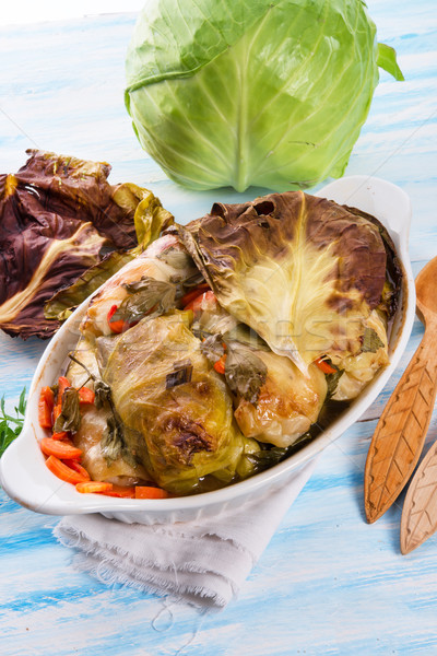 baked cabbage rolls Stock photo © Dar1930