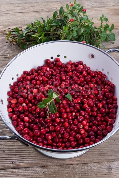клюква продовольствие обеда красный еды белый Сток-фото © Dar1930