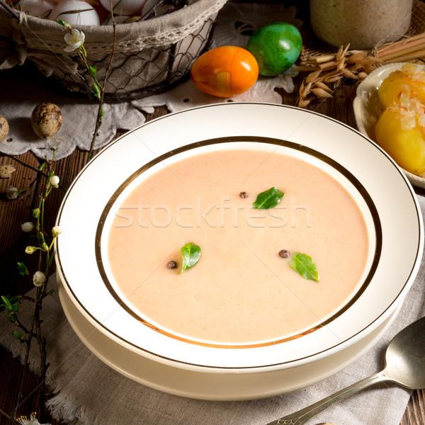 Foto stock: Agrio · centeno · sopa · Pascua · alimentos · cena