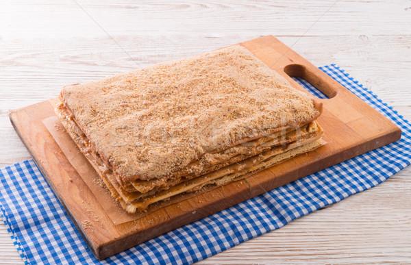 layered caramel cake Stock photo © Dar1930