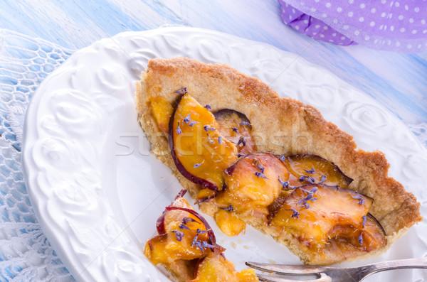 Nectarine tarte with lavender and honey Stock photo © Dar1930