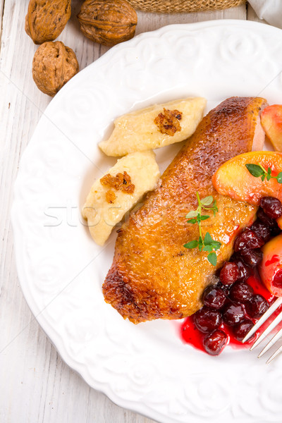 Duck breast with cranberry Stock photo © Dar1930