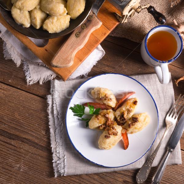 szare kluski - Polish potato dumplings Stock photo © Dar1930