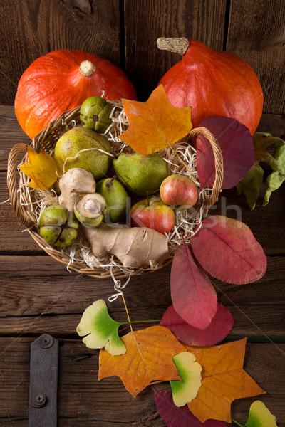 pumpkin apfel basket Stock photo © Dar1930