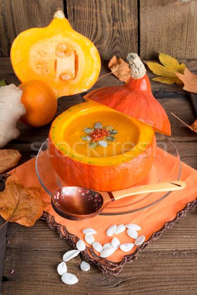 pumpkin soup Stock photo © Dar1930