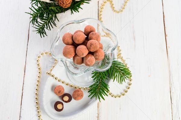 marzipan ball Stock photo © Dar1930