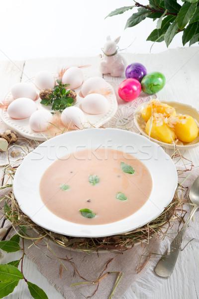 Sour rye soup Stock photo © Dar1930