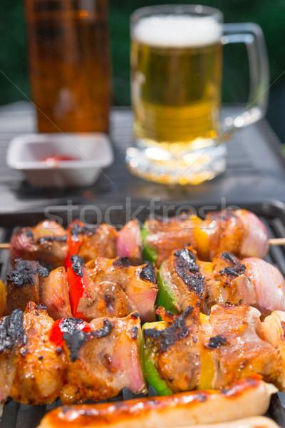 été grill fête alimentaire feu cuisson Photo stock © Dar1930