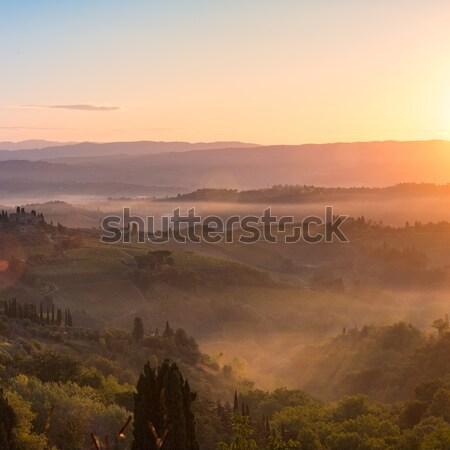 sunrise in Tuscany Stock photo © Dar1930