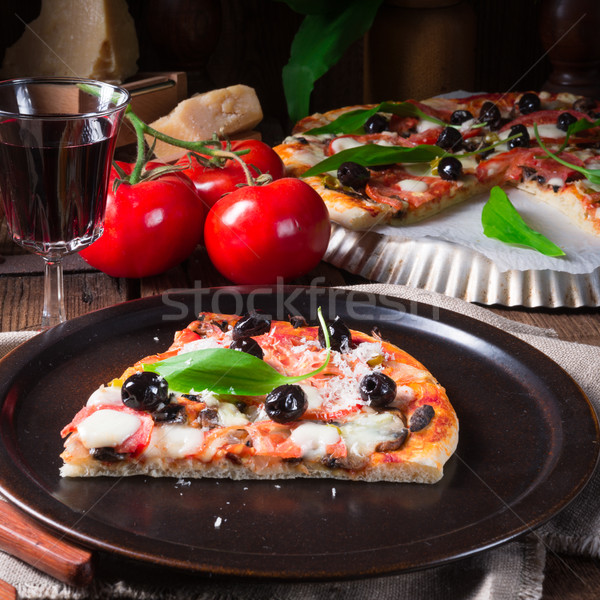 Ajo pizza queso rápido frescos Foto stock © Dar1930