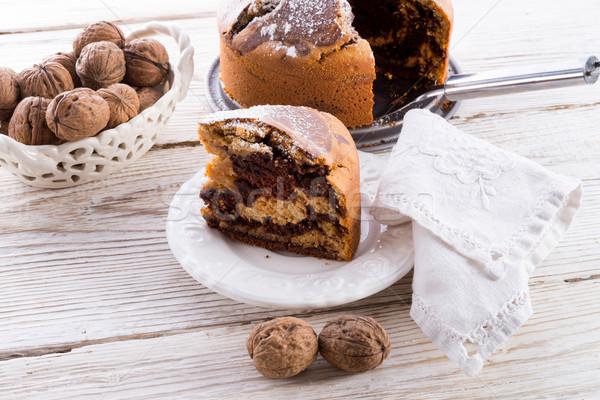 Marmo torta caffè cioccolato uova nero Foto d'archivio © Dar1930