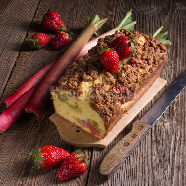 Stock photo: rhubarb cake