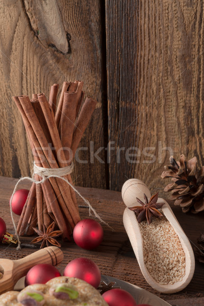 christmas cinnamon aniseed Stock photo © Dar1930
