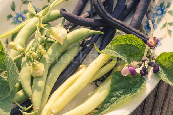 ストックフォト: 文字列 · 豆 · 食品 · 庭園 · 緑 · ディナー