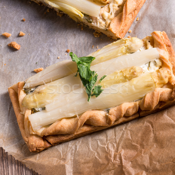 Asparagus tart with feta cheese   Stock photo © Dar1930