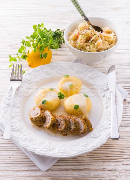 Stock fotó: étel · fehér · minta · főzés · szakács · életstílus
