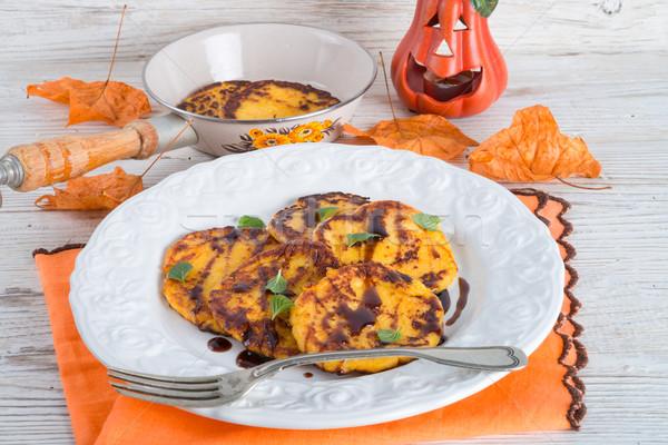 伝統的な カボチャ 酵母 パンケーキ 食品 パーティ ストックフォト © Dar1930
