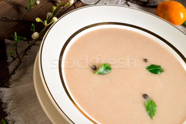 Kwaśny żyto zupa Wielkanoc żywności obiedzie Zdjęcia stock © Dar1930