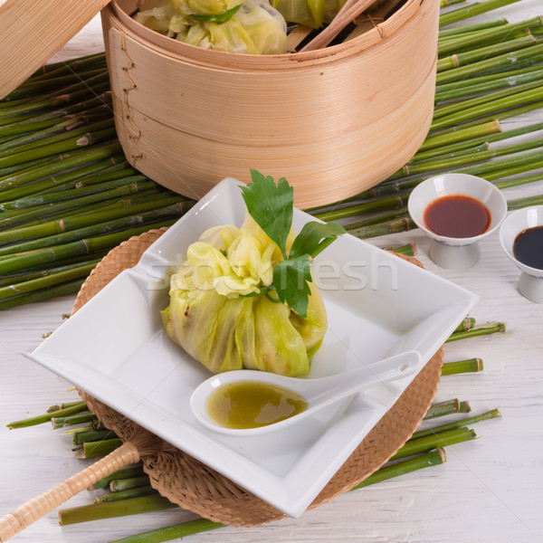 cabbage with rice bags Stock photo © Dar1930