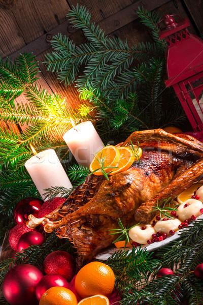 Рождества утки свет кухне птица куриные Сток-фото © Dar1930