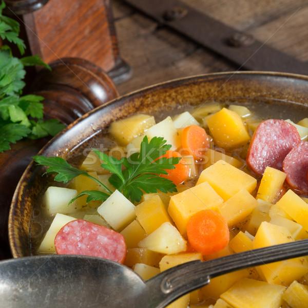 çorba sebze sebze bacak diyet soğan Stok fotoğraf © Dar1930