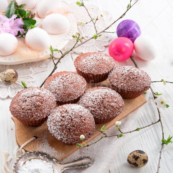 Main rétro vintage dessert cookie nid Photo stock © Dar1930