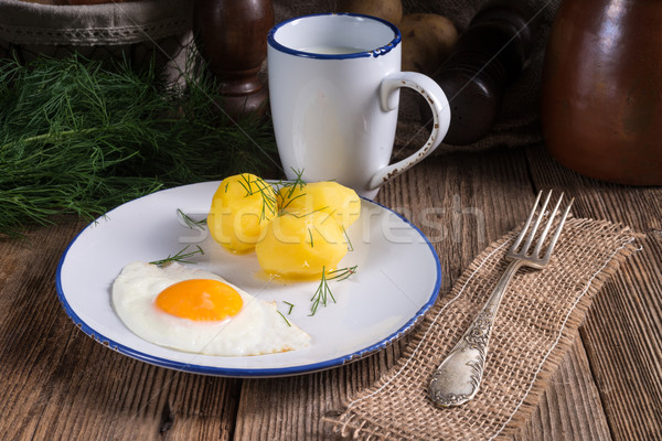 Stok fotoğraf: Patates · gıda · yaz · restoran · yeşil · öğle · yemeği