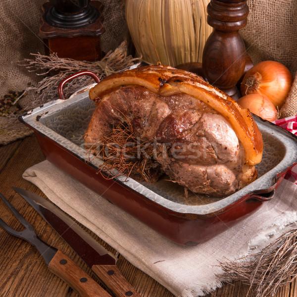 Photo stock: Porc · Pâques · alimentaire · fête · restaurant · plaque