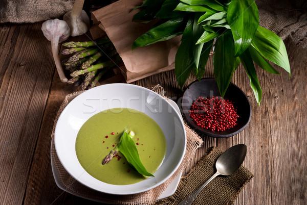 Stok fotoğraf: Kuşkonmaz · çorba · bahar · orman · arka · plan · bitki