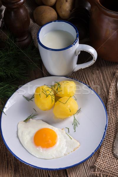 Patates gıda yaz restoran yeşil öğle yemeği Stok fotoğraf © Dar1930