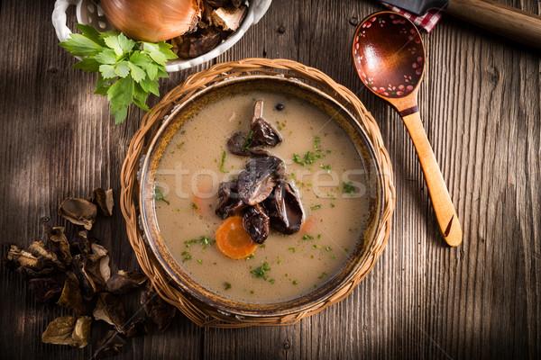 stone mushroom soup Stock photo © Dar1930