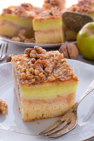 ストックフォト: リンゴ · バニラ · プリン · ナッツ · コーヒー · フルーツ