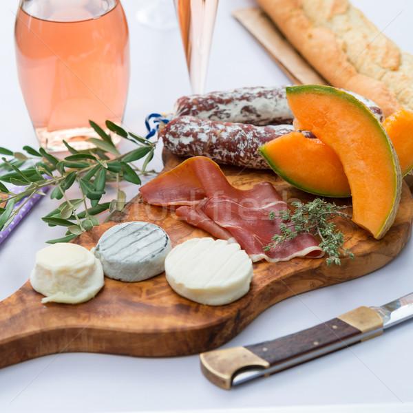 チーズ ハム プレート ラ 食品 葉 ストックフォト © Dar1930