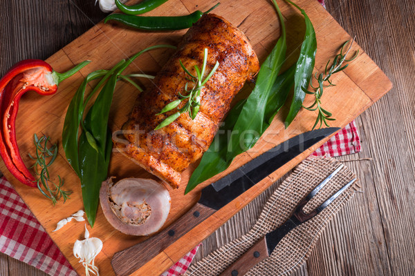 meat roulade with bear allium filling  Stock photo © Dar1930