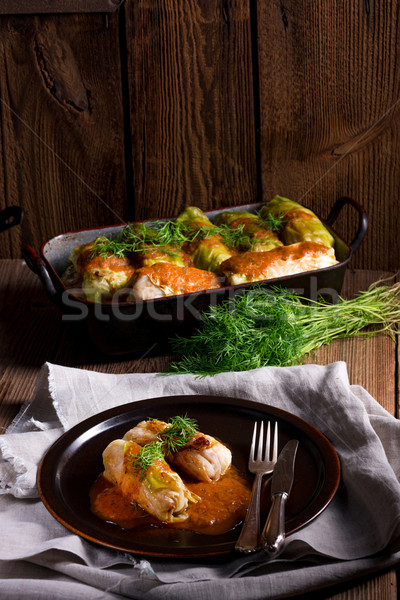 Cabbage rolls out young cabbage Stock photo © Dar1930
