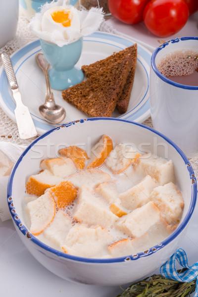 伝統的に パン ピース ミルク コーヒー ストックフォト © Dar1930