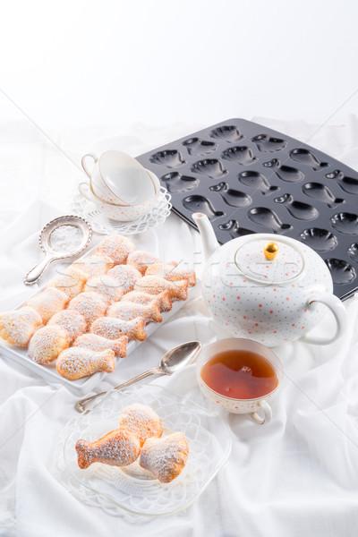 fresh baked madeleines cookies Stock photo © Dar1930