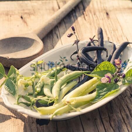 String bean alimentare giardino verde cena Foto d'archivio © Dar1930