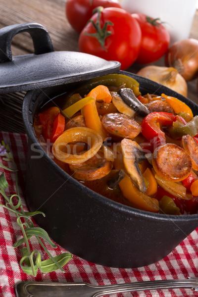 Gıda yeşil kırmızı domates havuç Stok fotoğraf © Dar1930