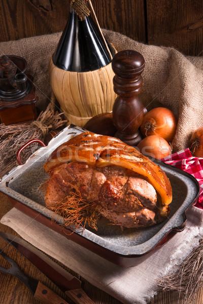 Stok fotoğraf: Domuz · eti · Paskalya · gıda · parti · restoran · plaka