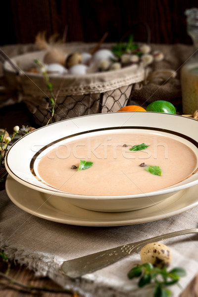 Centeio sopa páscoa comida jantar Foto stock © Dar1930