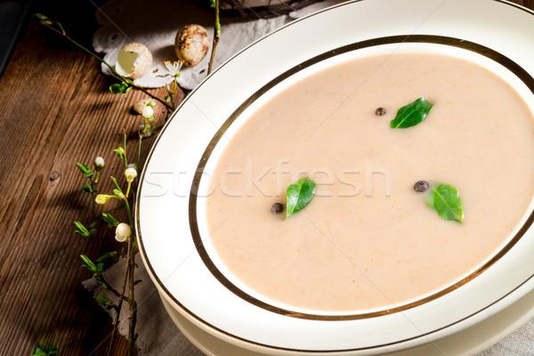 Zuur rogge soep Pasen voedsel diner Stockfoto © Dar1930