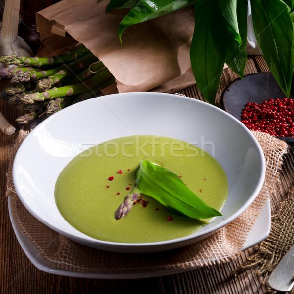 Ramsons Asparagus Soup Stock photo © Dar1930