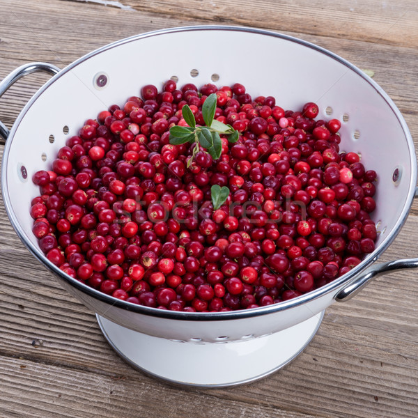 Stock photo: cranberries in a colander