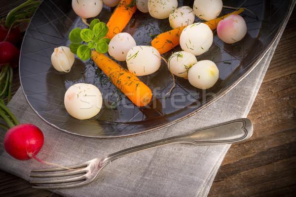 tasty roasted radishes Stock photo © Dar1930