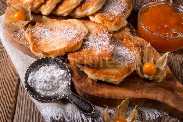酵母 パンケーキ 食品 パーティ リンゴ 背景 ストックフォト © Dar1930